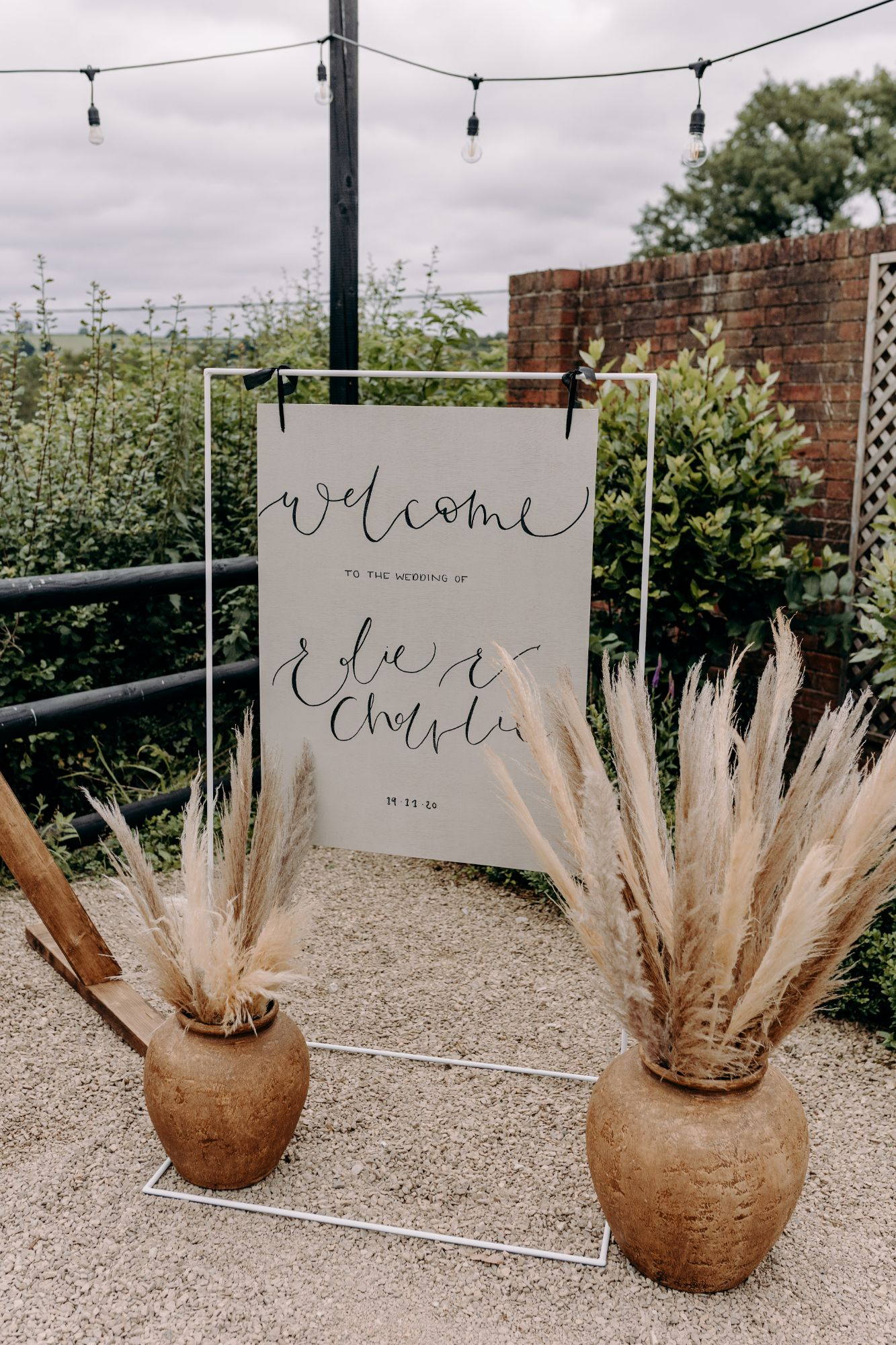 luxury wedding welcome sign