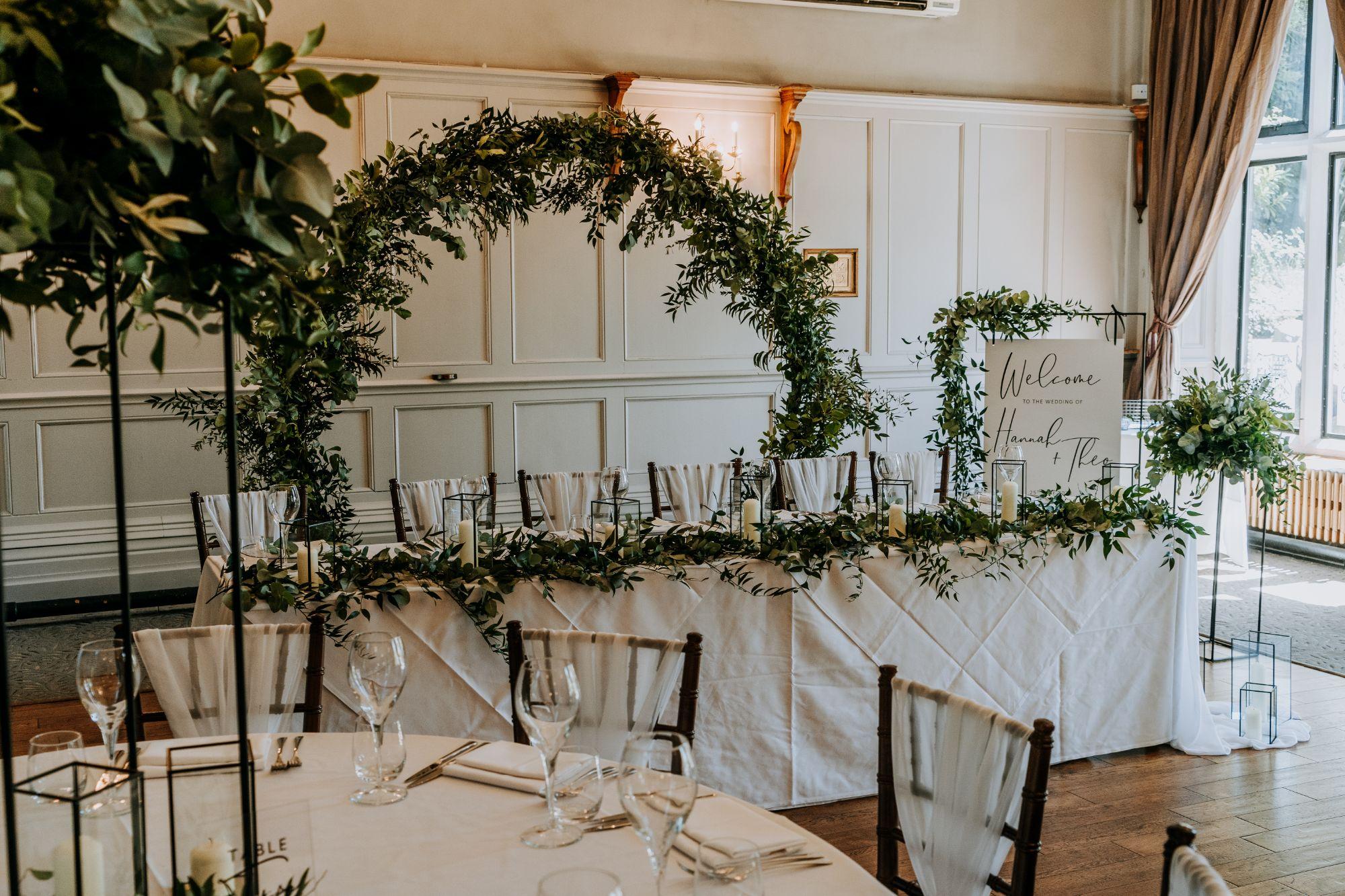 wedding table decor hire East Midlands