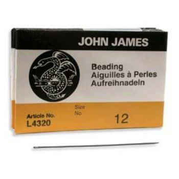 Size 12 John James English Beading Needles - longs - pack of 25