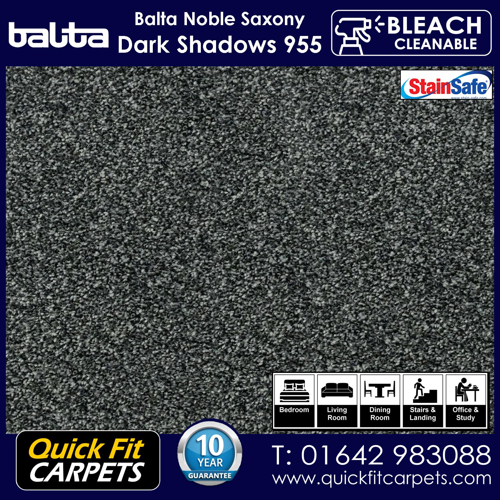Quick Fit Carpets Balta Luxury Pile Dark Shadows 955