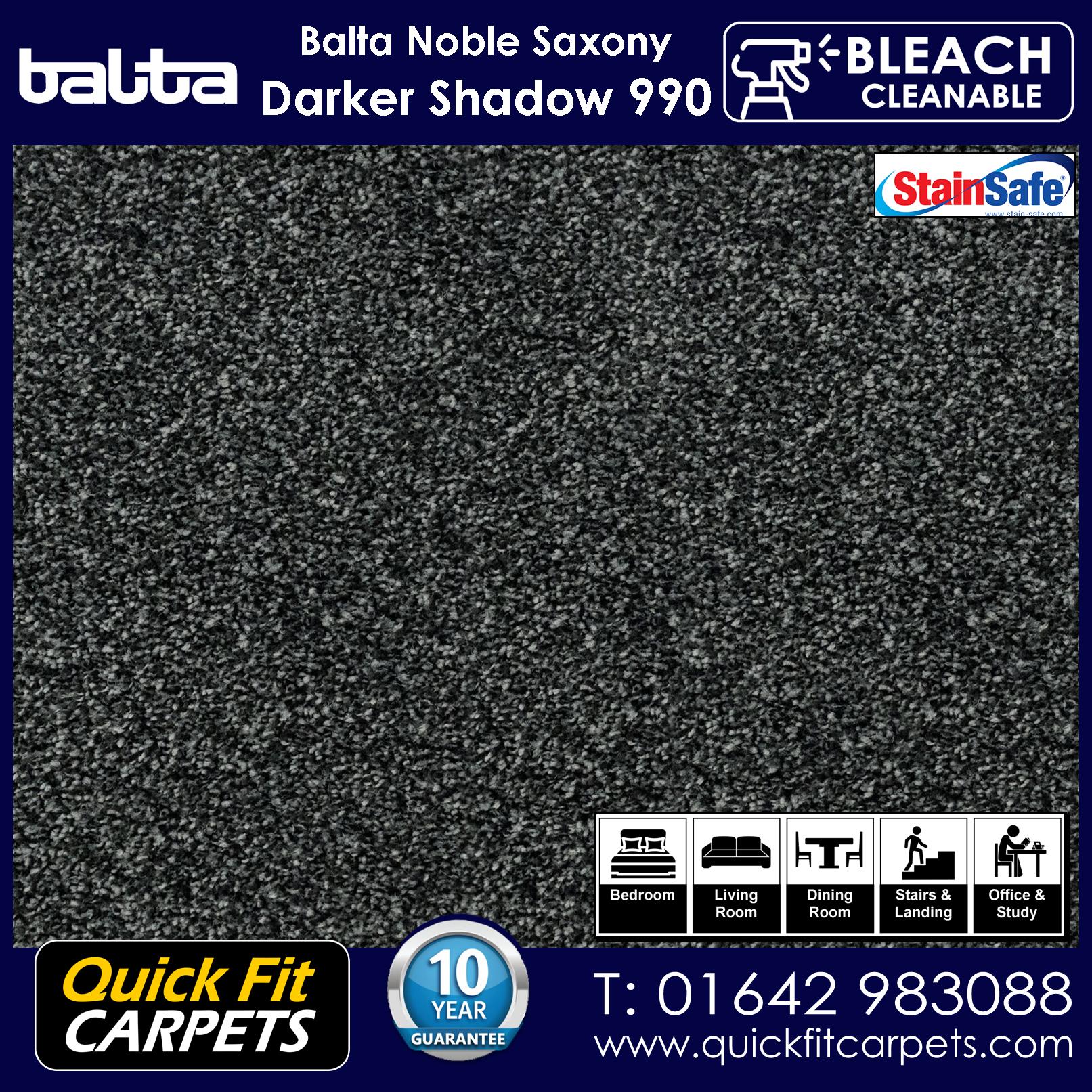 Quick Fit Carpets Balta Luxury Pile Darker Shadow 990