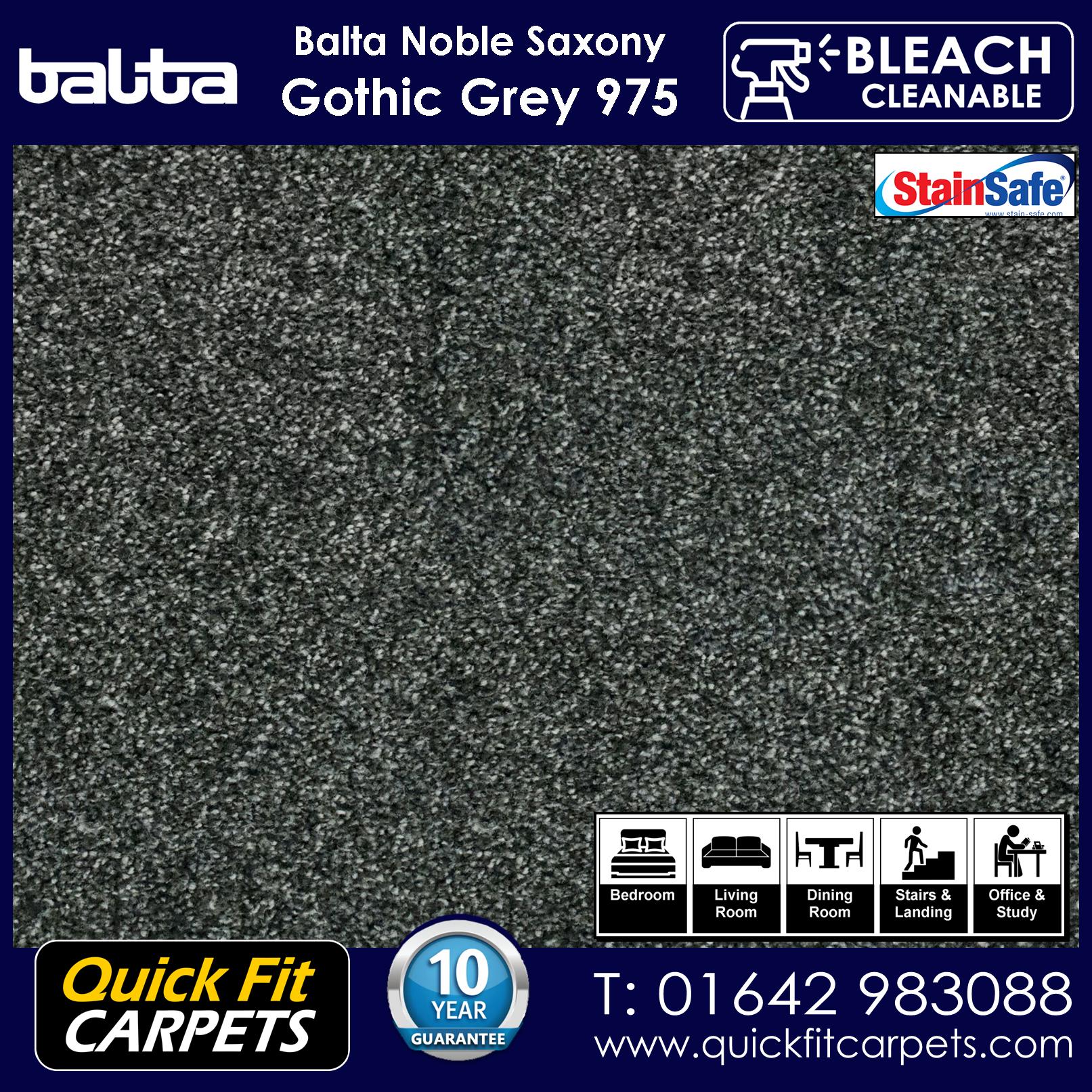 Quick Fit Carpets Balta Luxury Pile Gothic Grey 975