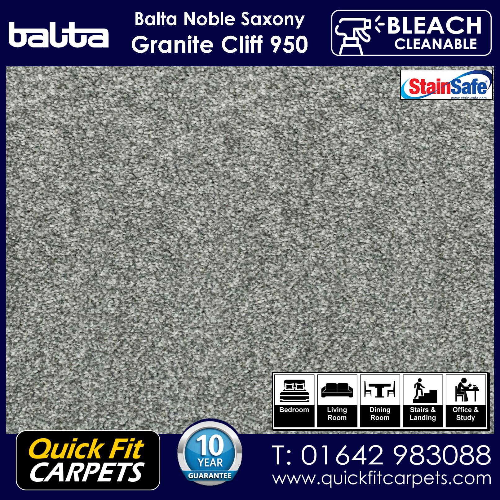 QQuick Fit Carpets Balta Luxury Pile Granite Cliff 950