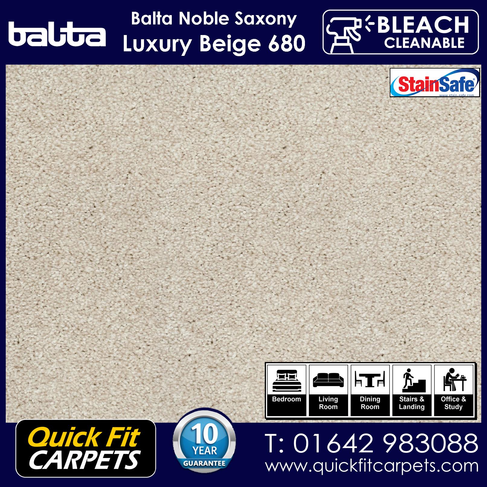 Quick Fit Carpets Balta Luxury Pile Luxury Beige 680