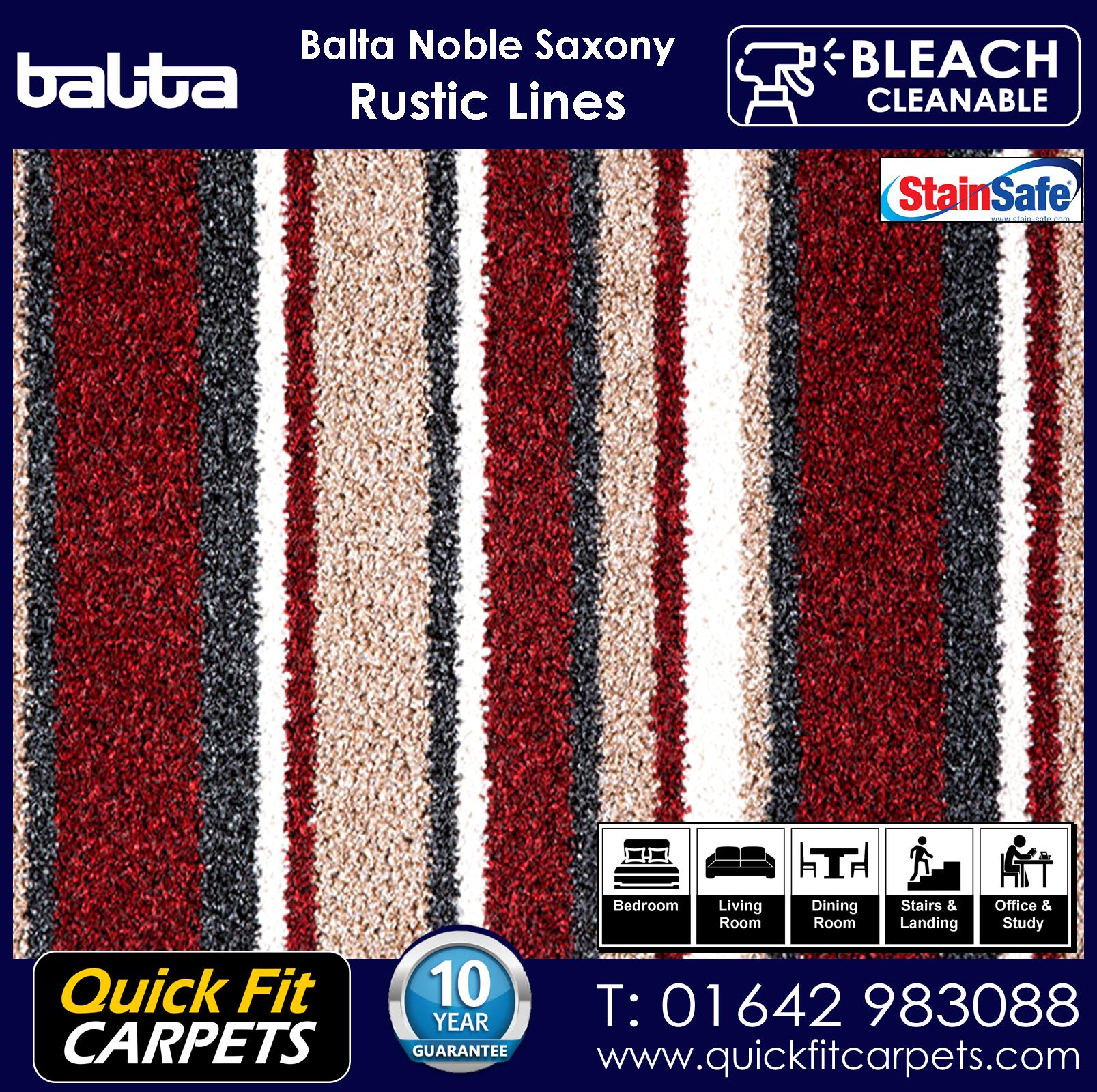 Quick Fit Carpets Balta Luxury Pile Rustic Lines