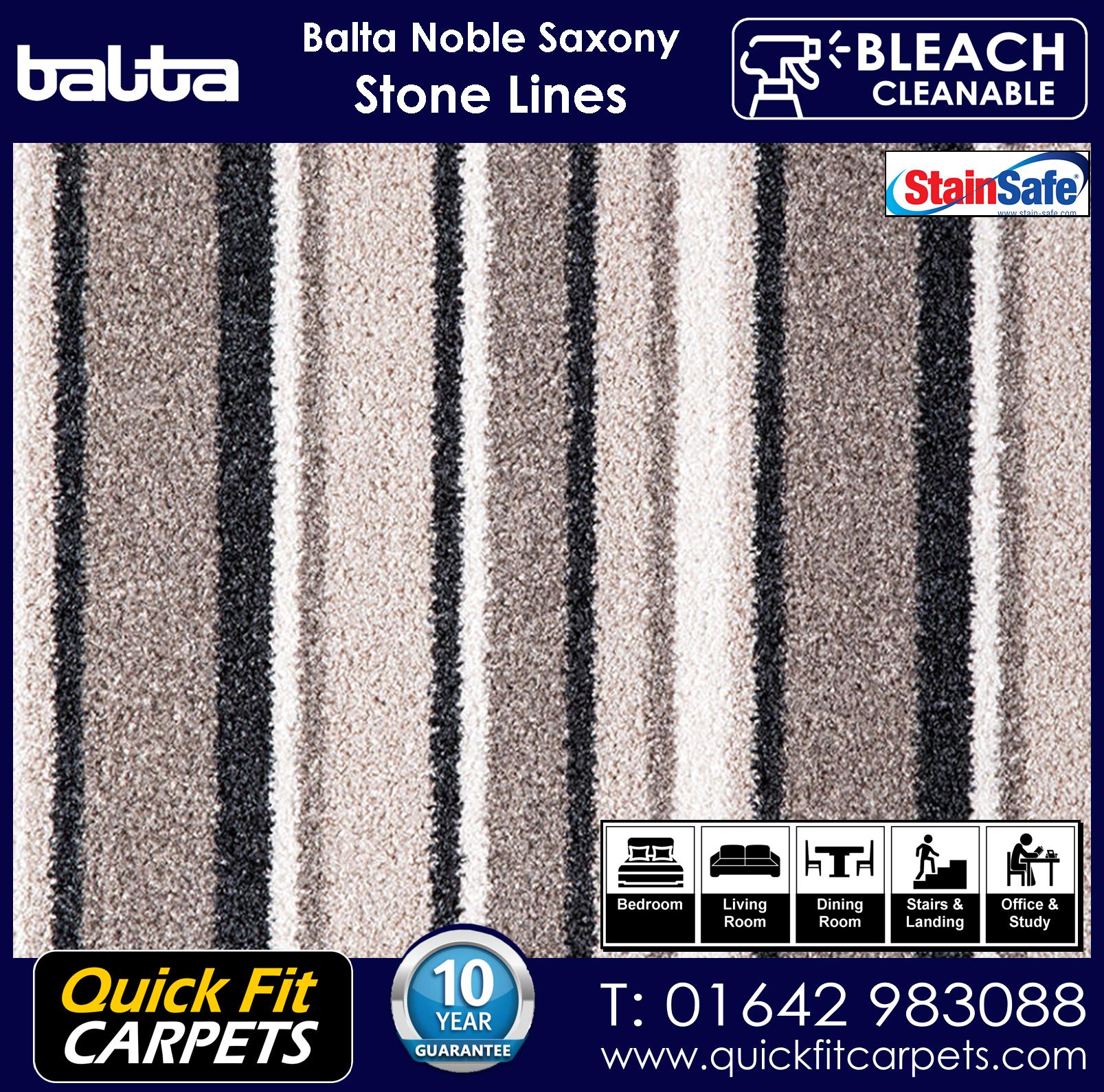 Quick Fit Carpets Balta Luxury Pile Stone Lines