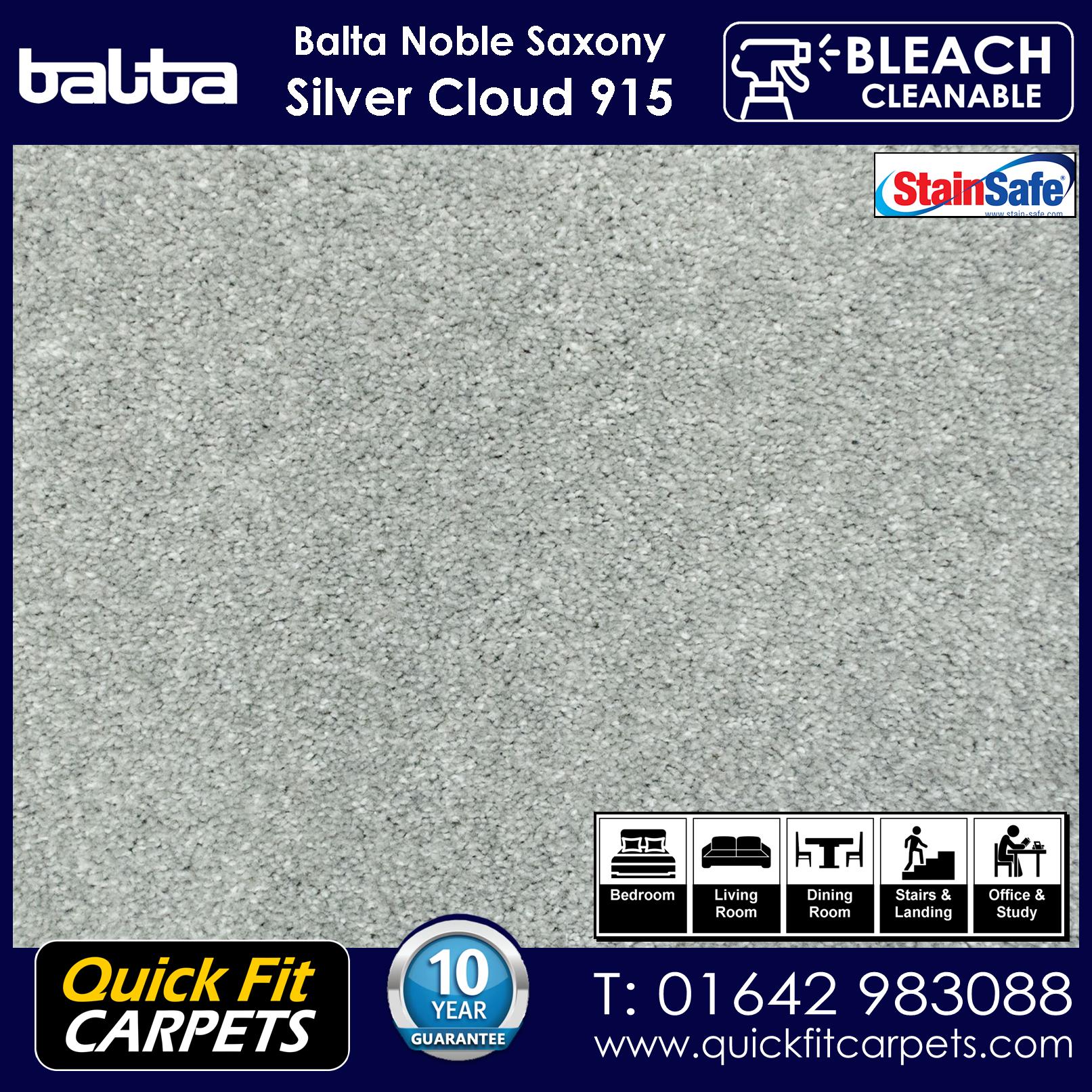 Quick Fit Carpets Balta Luxury Pile Silver Cloud 915