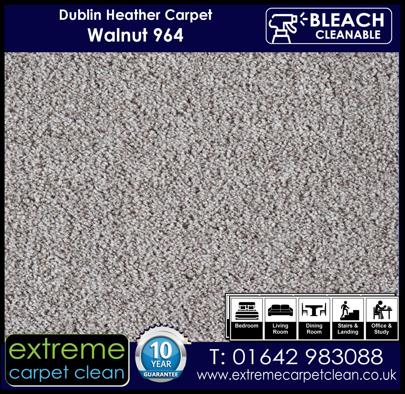 Dublin Heather Carpet Range. Walnut 964 Extreme Carpet Clean