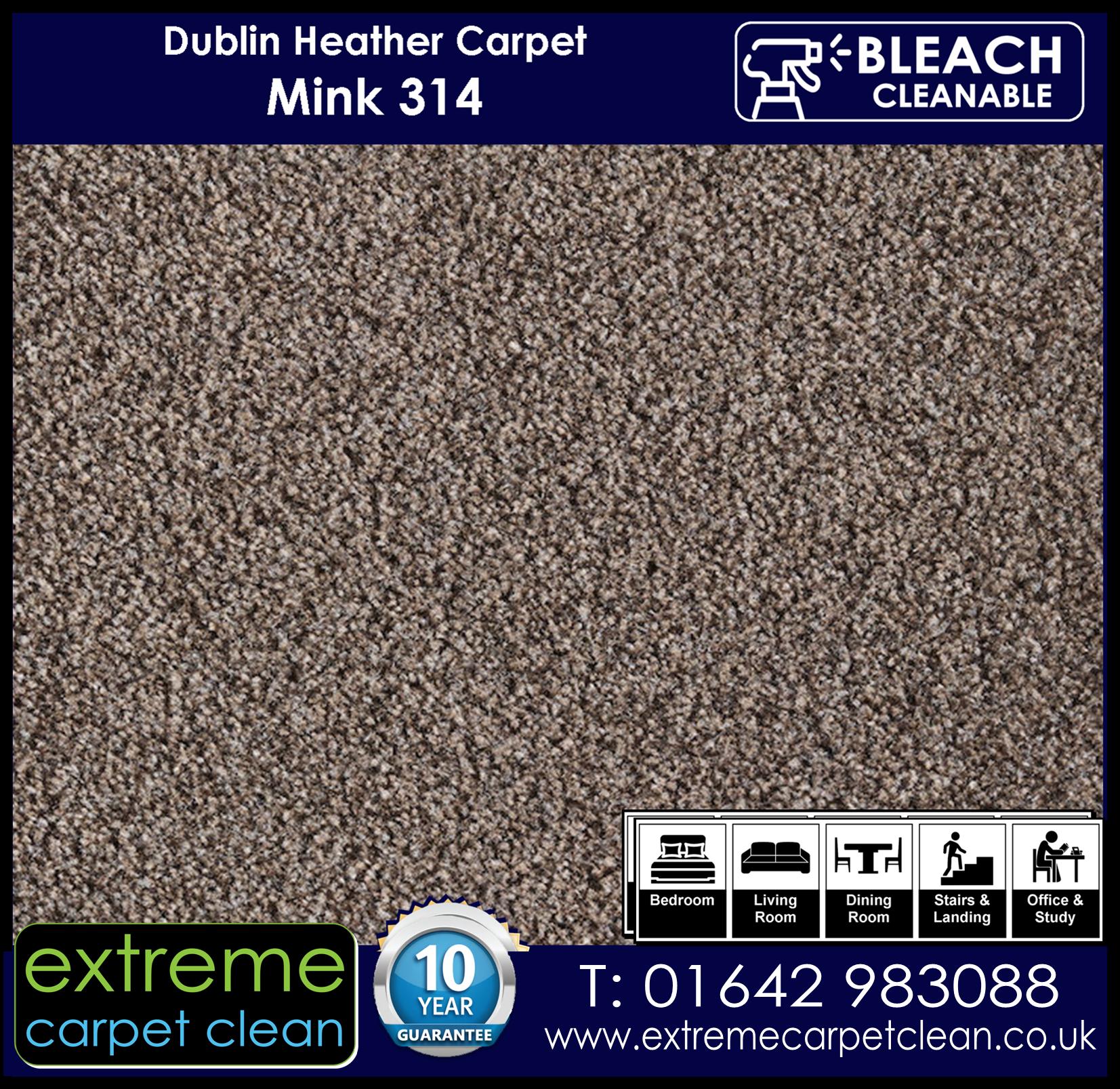 Dublin Heather Carpet Range. Mink 314 Extreme Carpet Clean