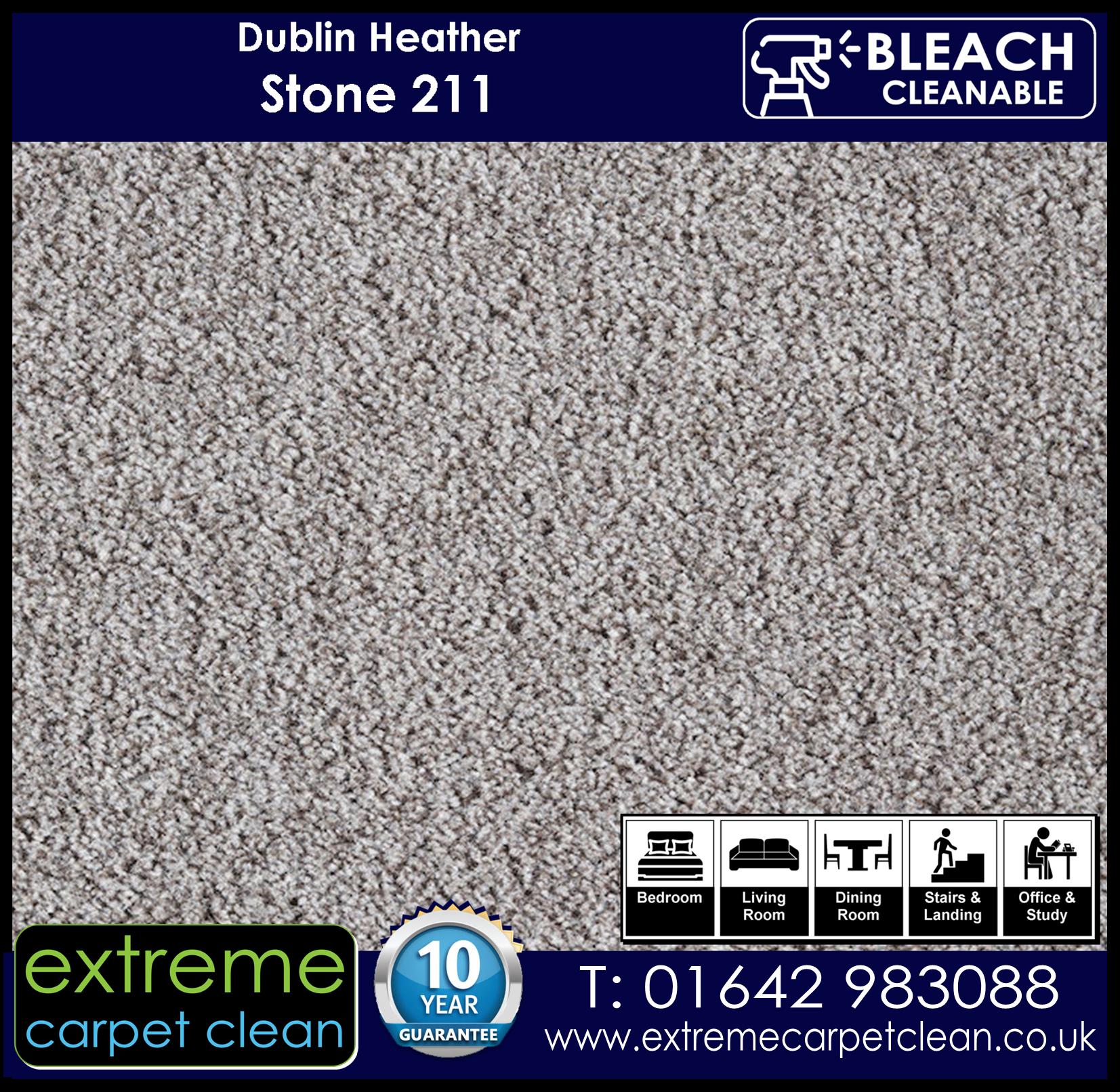 Dublin Heather Carpet Range. Stone 211 Extreme Carpet Clean