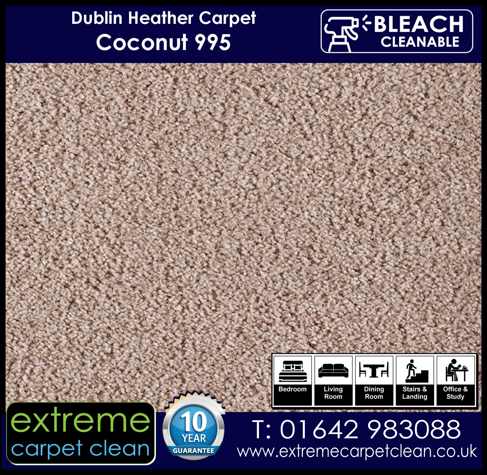 Dublin Heather Carpet Range. Coconut 995 Extreme Carpet Clean