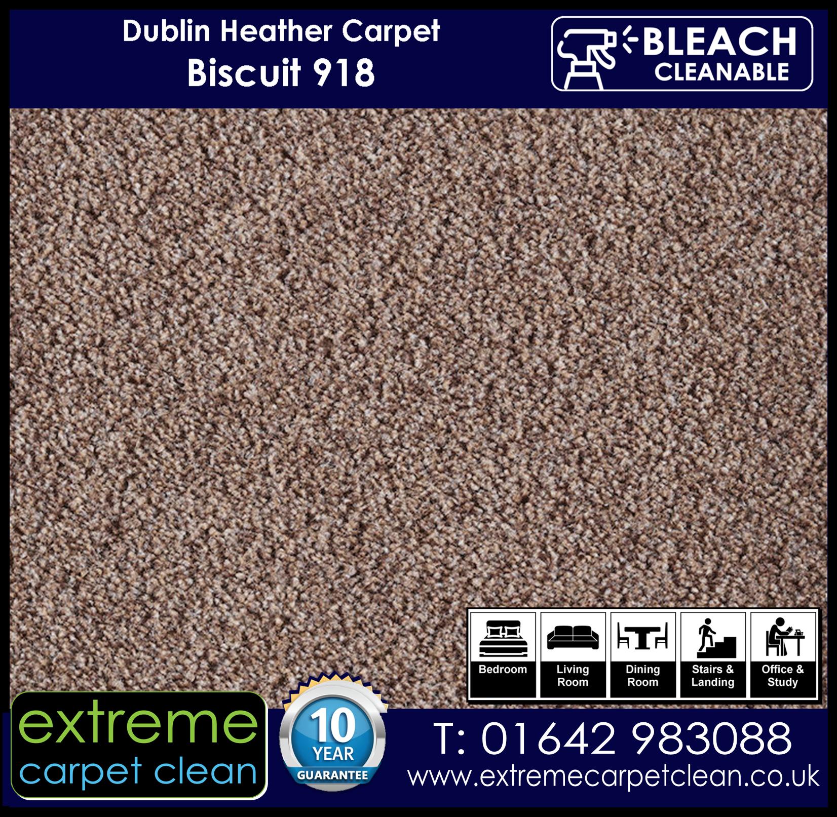 Dublin Heather Carpet Range. Biscuit 918 Extreme Carpet Clean