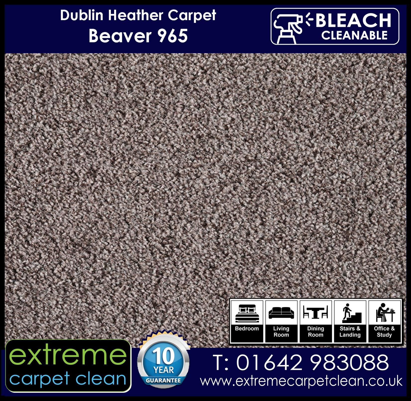 Dublin Heather Carpet Range. Beaver 965 Extreme Carpet Clean