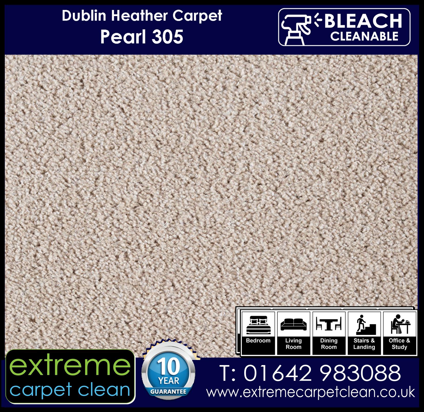 Dublin Heather Carpet. Pearl 305 Extreme Carpet Clean