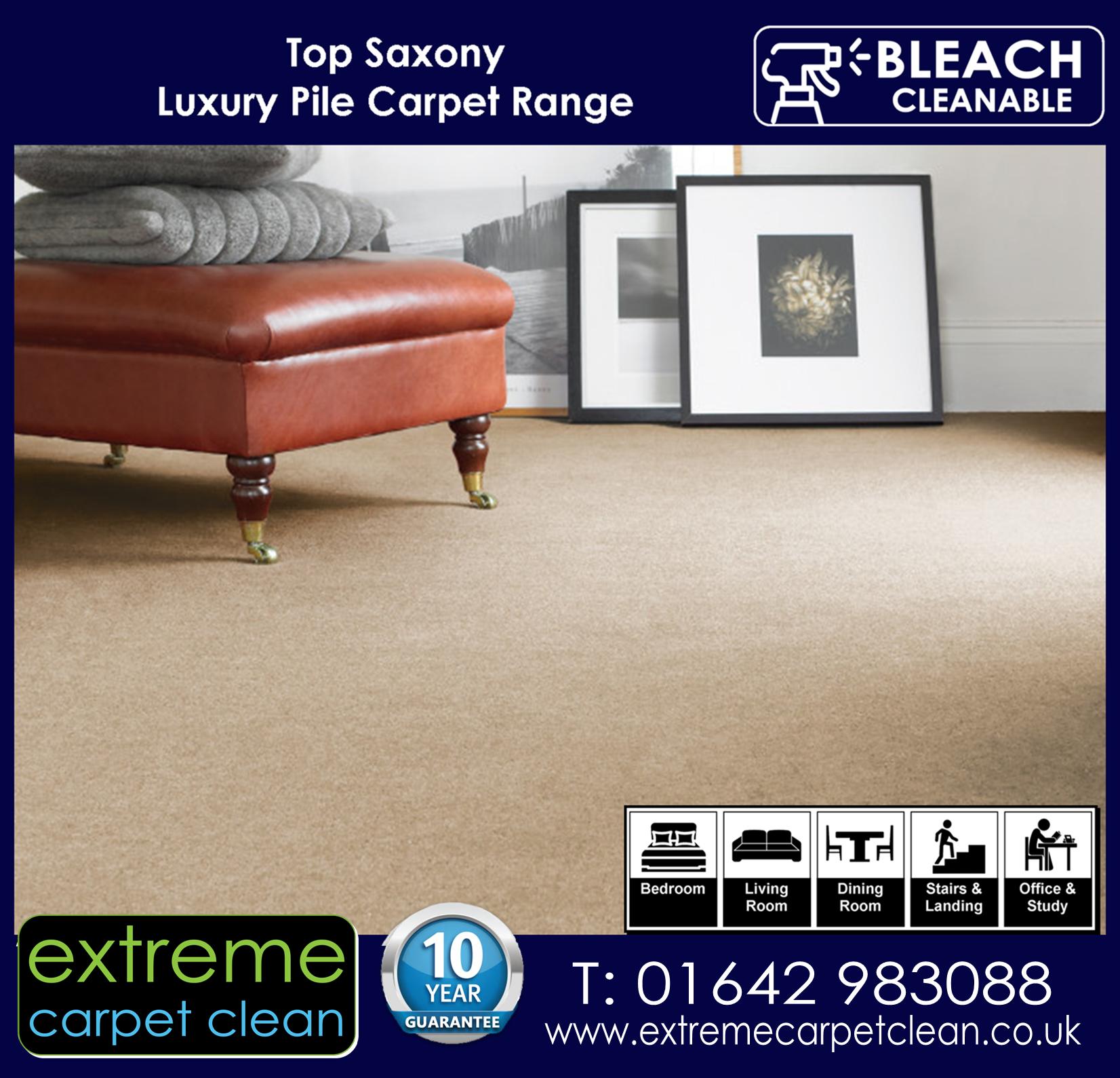 Extreme Carpet Clean in Middlesbrough, Top Saxony Luxury Pile Carpet Range