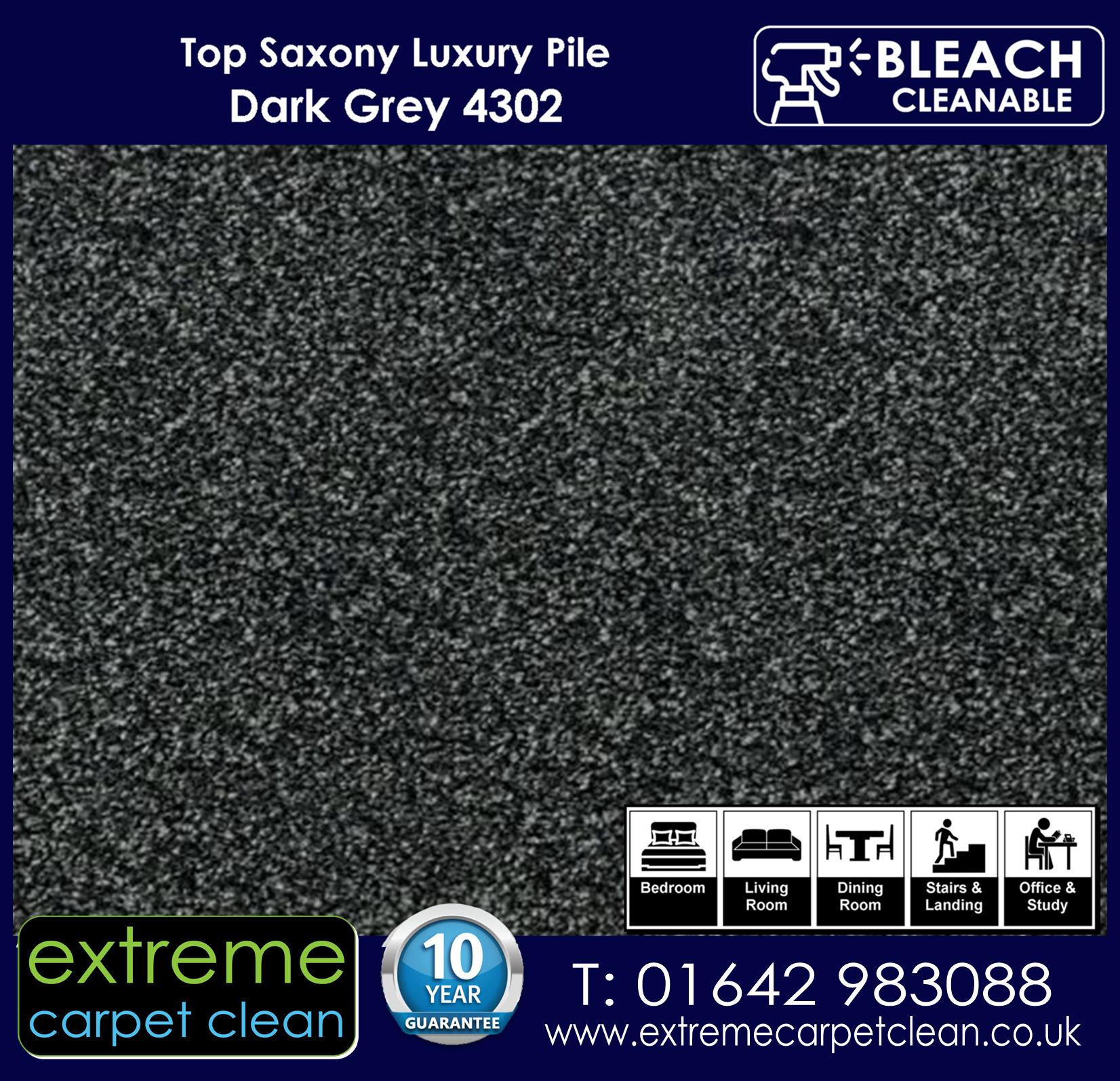 Extreme Carpet Clean Top Saxony DARK GREY 4302