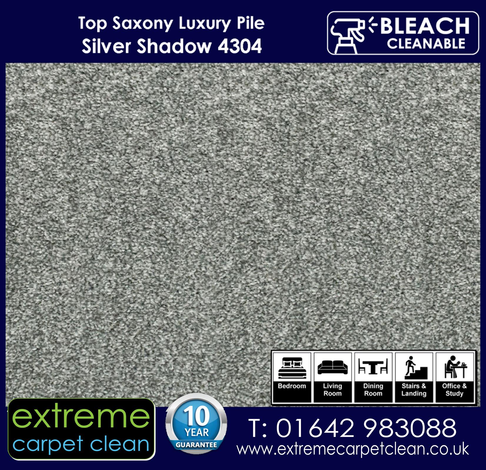 Extreme Carpet Clean Top Saxony Silver Shadow  Carpet 4304