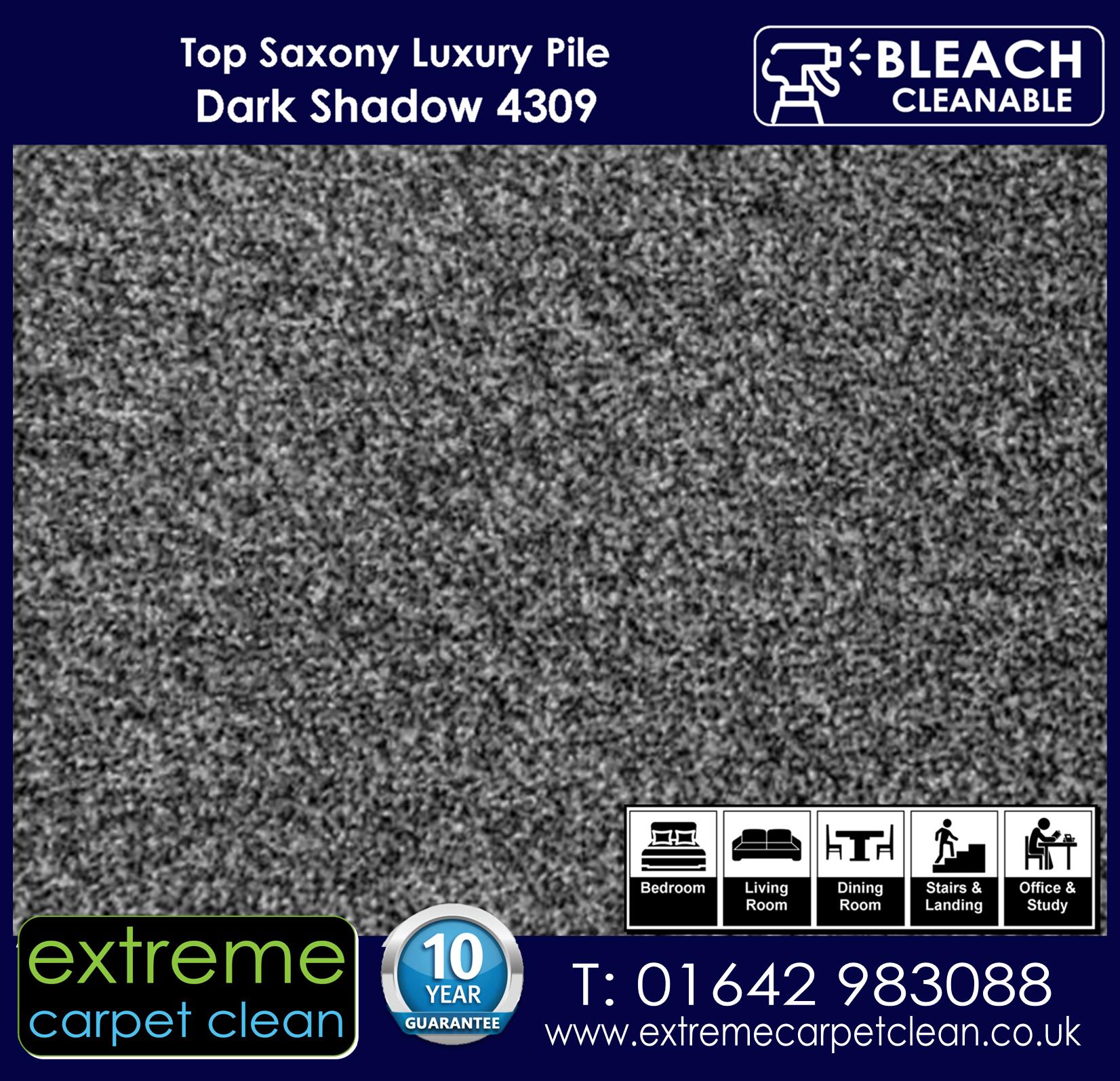 Extreme Carpet Clean Top Saxony Dark Shadow  Carpet 4309