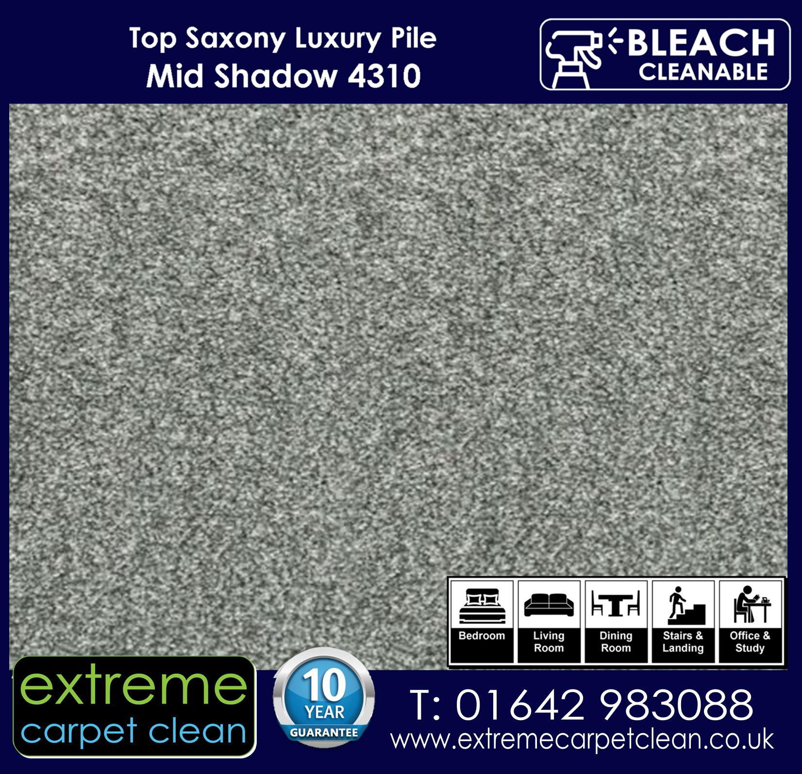Extreme Carpet Clean Top Saxony Mid Shadow  Carpet 4310