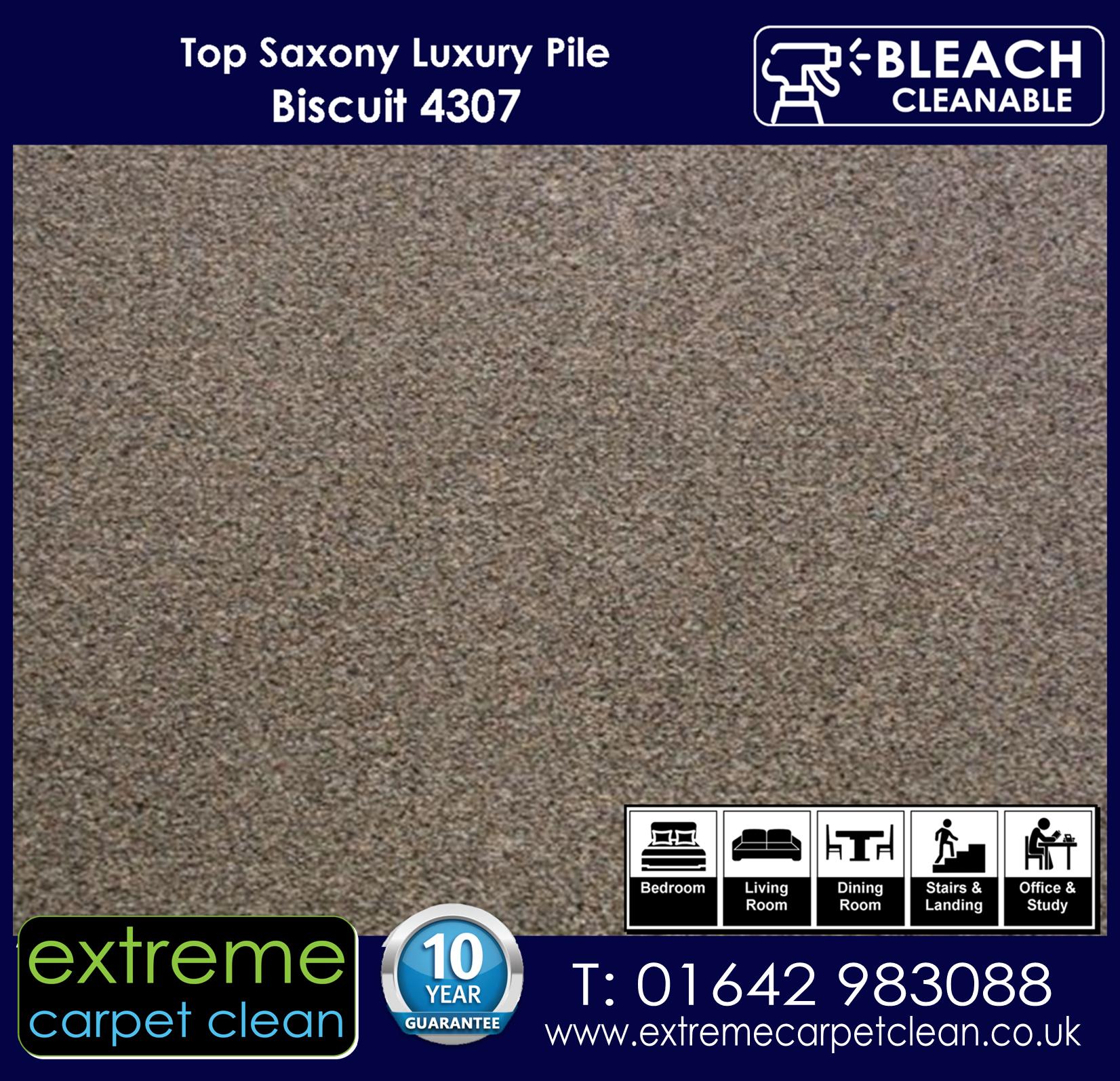 Extreme Carpet Clean Top Saxony Biscuit  Carpet 4307
