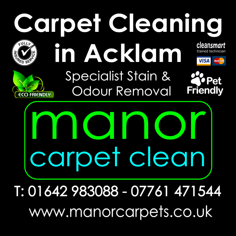 Manor Carpet cleaners in Acklam, Middlesbrough