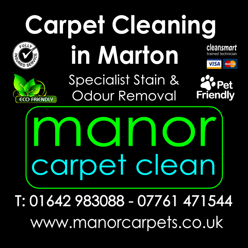 Manor Carpet cleaners in Marton, Marton Manor, Marton in Cleveland, Middlesbrough