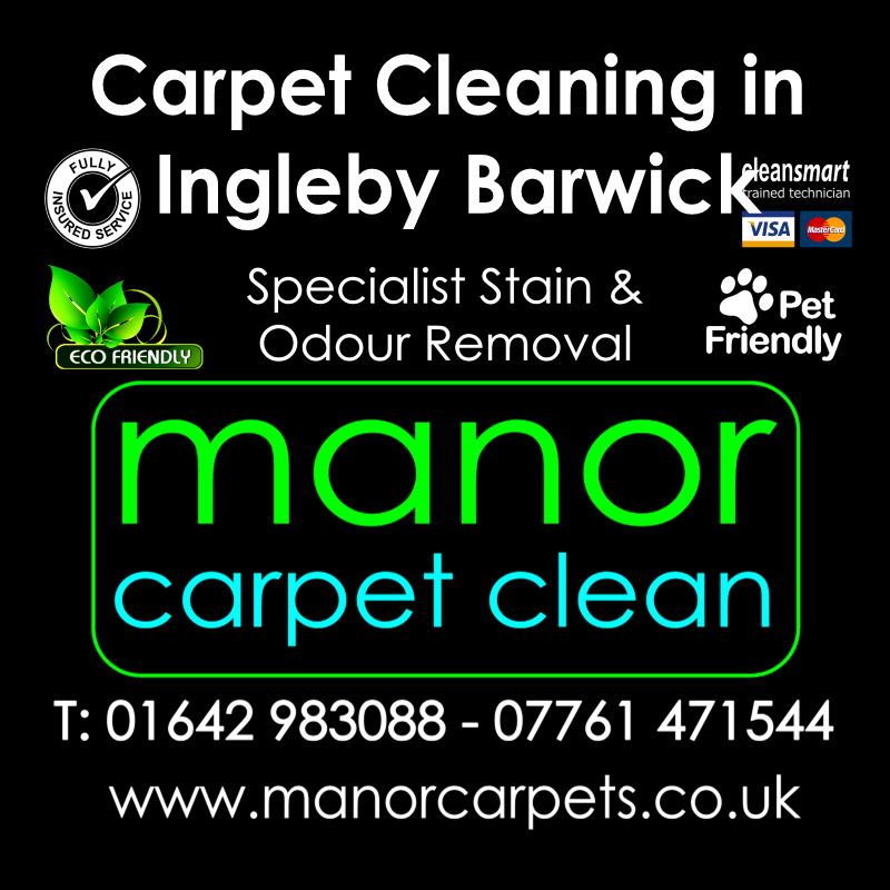 Manor Carpet cleaners in Ingleby Barwick, Stockton on Tees