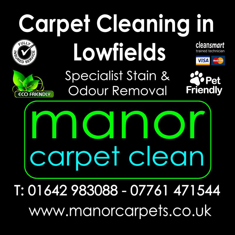 Manor Carpet Cleaning in Lowfields, Ingleby Barwick