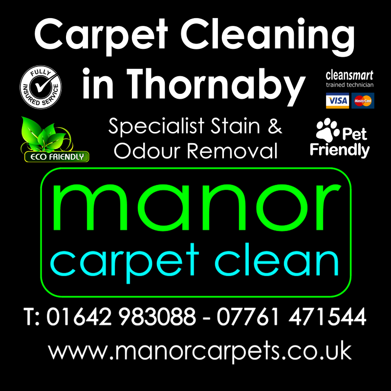 Manor Carpet Cleaning in Tollesby and Thornaby, Stockton on Tees