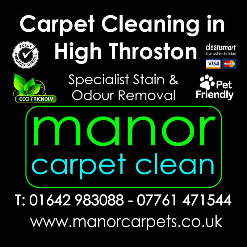 Manor Carpet Cleaning in High Throston, Hartlepool