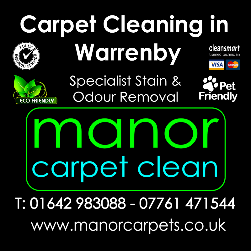 Manor Carpet cleaners in Warrenby, Redcar