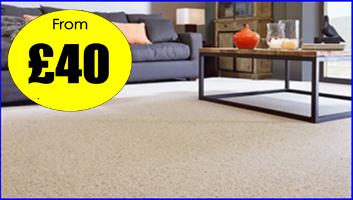 Manor Carpet Clean living room middlesbrough