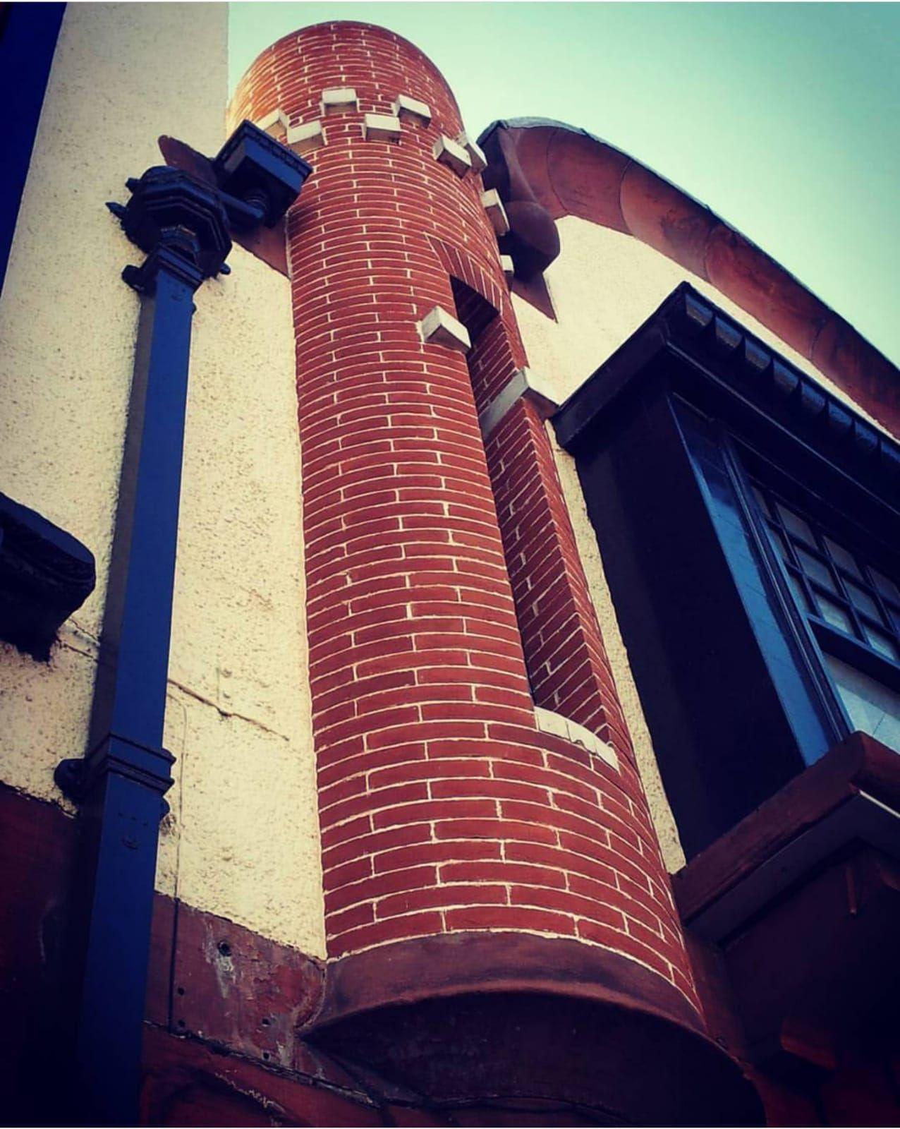 Restored brick turrets