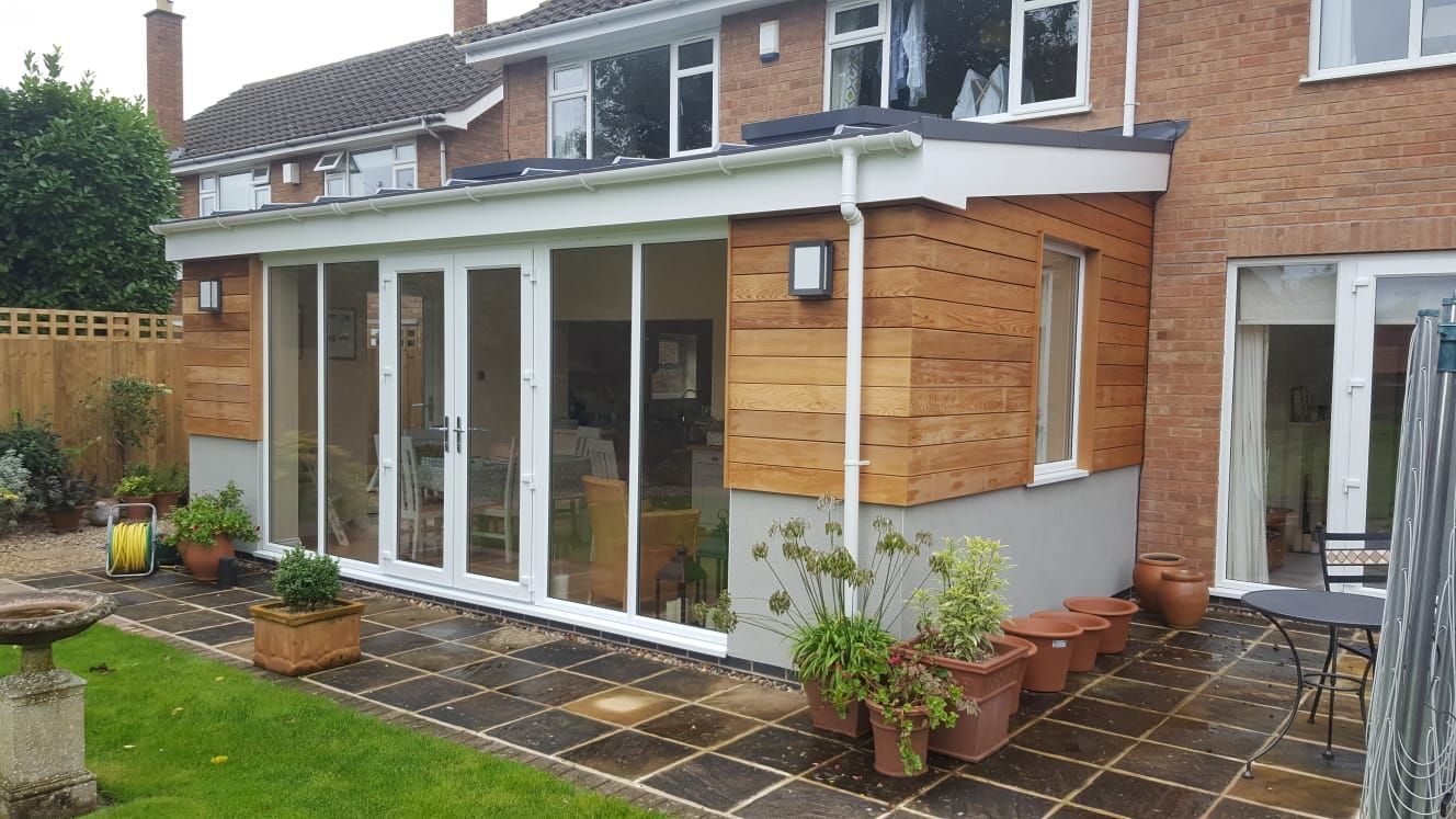 extension with cladding