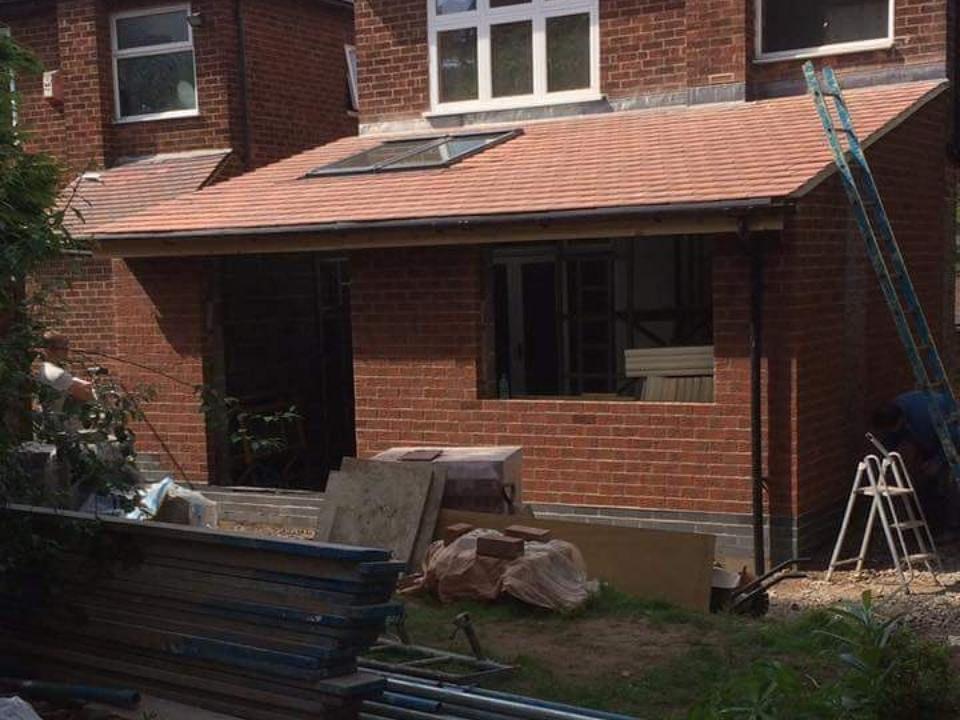 Rear extension  under construction