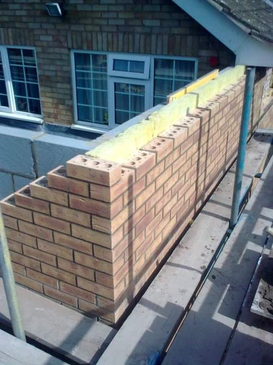 Brickwork on extension