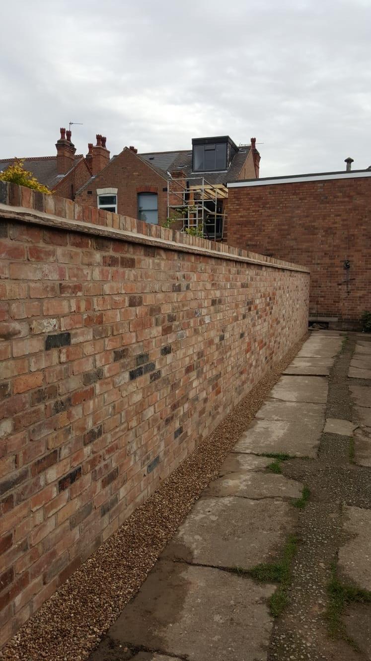 Traditional garden wall