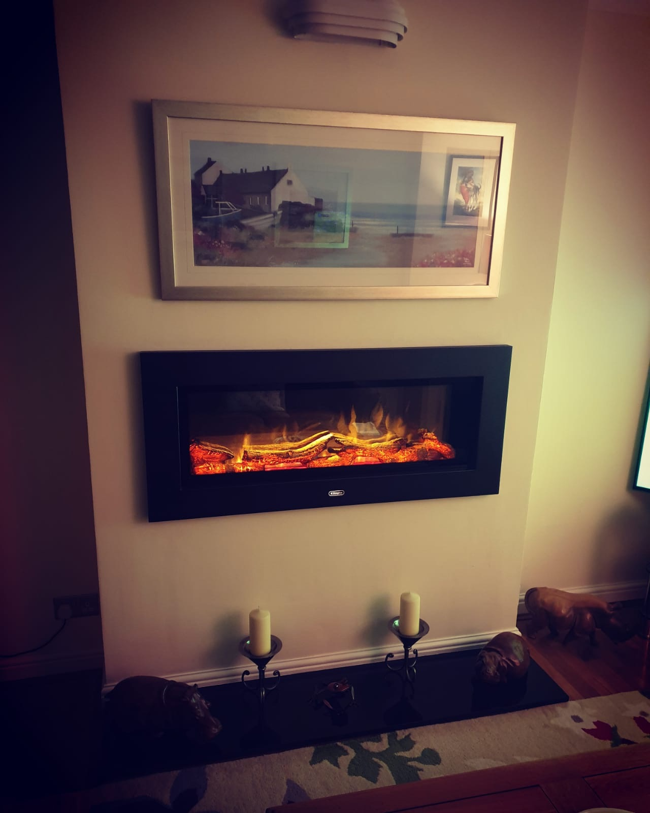 New electric fire installed