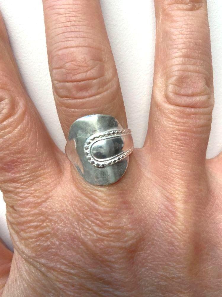 Silver salt spoon ring