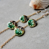 Ocean green dangle discs