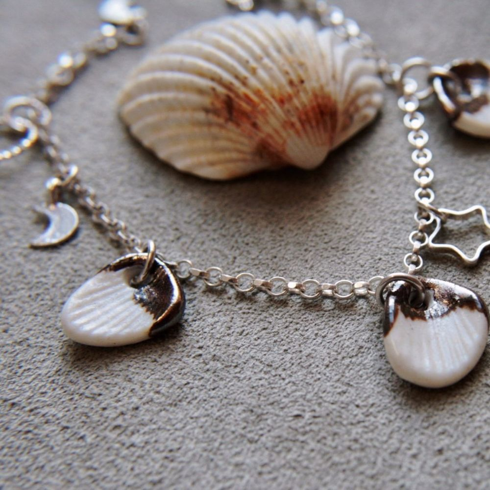 Shells -  charm bracelet