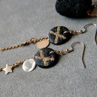 Celestial earrings - discs and stars