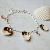 Shells - silver  charm bracelet