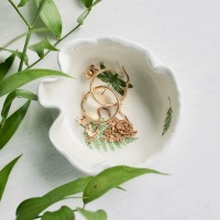 Floral  trinket dish, for your rings, earrings and delicate chains.