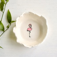 Pink flamingo trinket dish, for your rings, earrings and delicate chains.