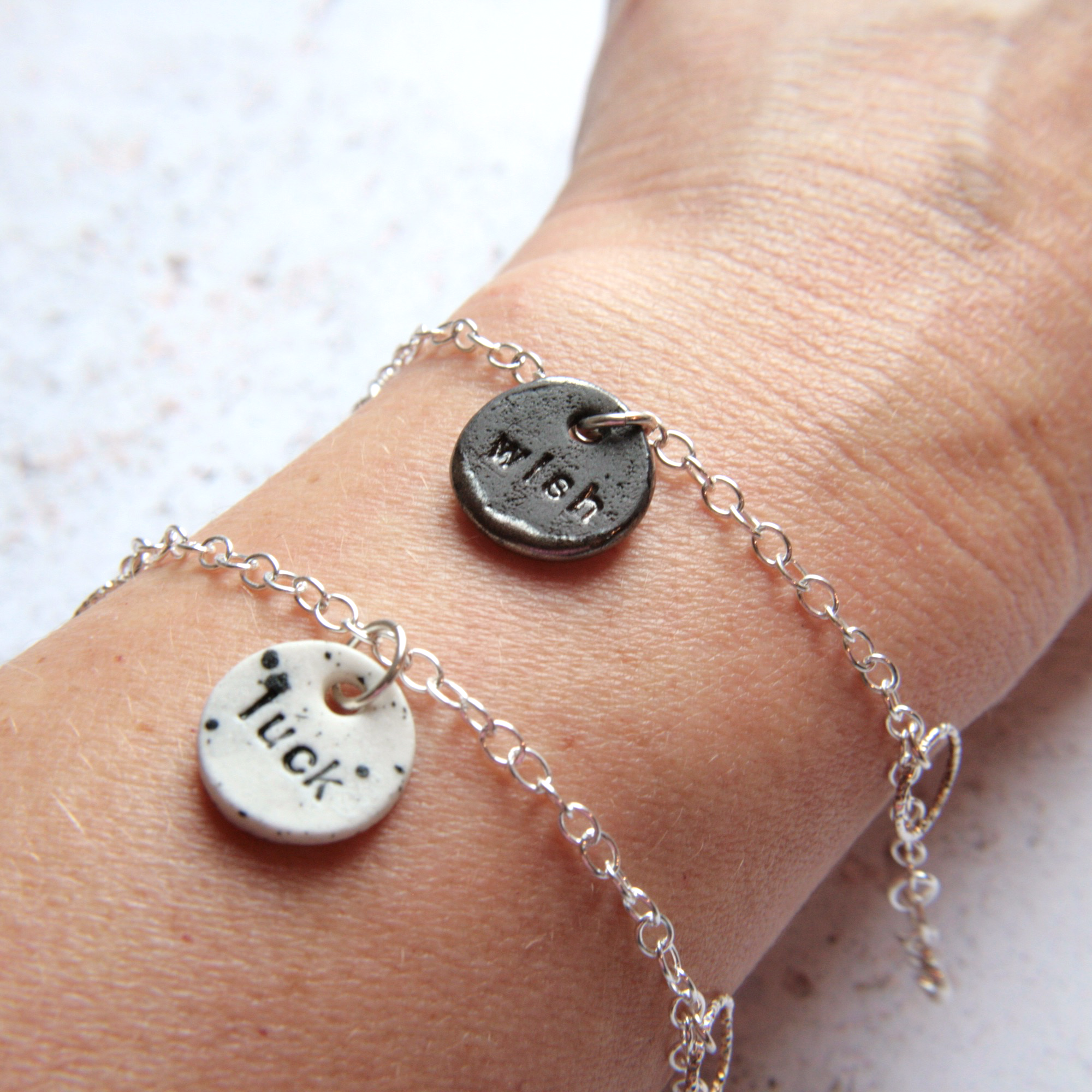 silver bracelets with lucky charms