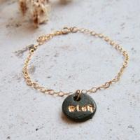 Make a WISH bracelet with handmade porcelain charms