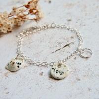 Love charm bracelet - sterling silver 01