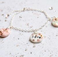 Love charm bracelet - sterling silver 02