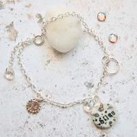 Follow your bliss - sterling silver bracelet with sun charm